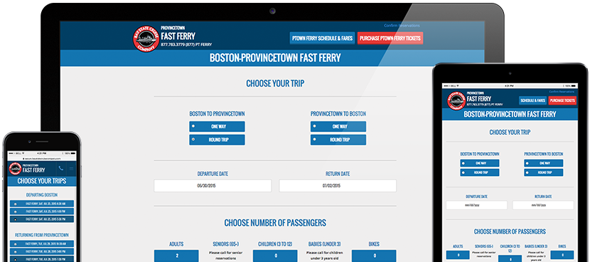 BSCC Mobile Ticketing Redesign - Desktop, Tablet and Phone