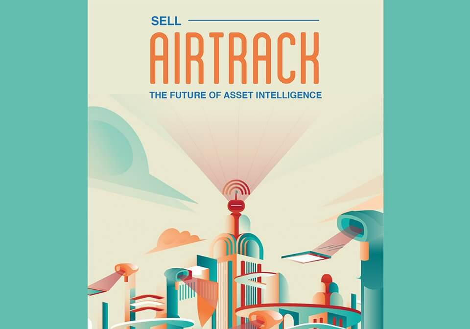 An internal marketing poster showcasing the tagline we created for the new AirTrack brand.