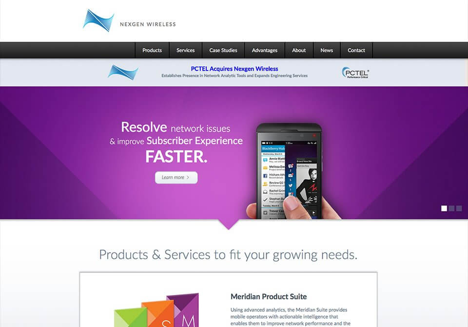 Website content writing created for Nexgen Wireless's home page.