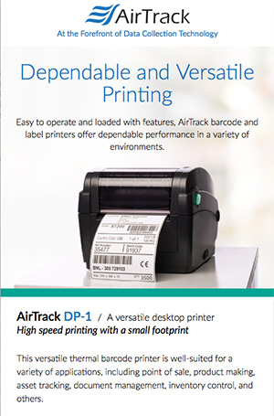 Branding and product description copy for a new AirTrack printer.