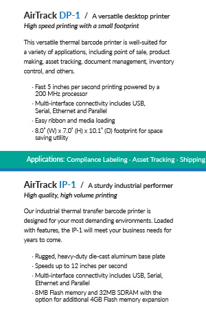 Copywriting for a print brochure used for the launch of the new AirTrack brand.