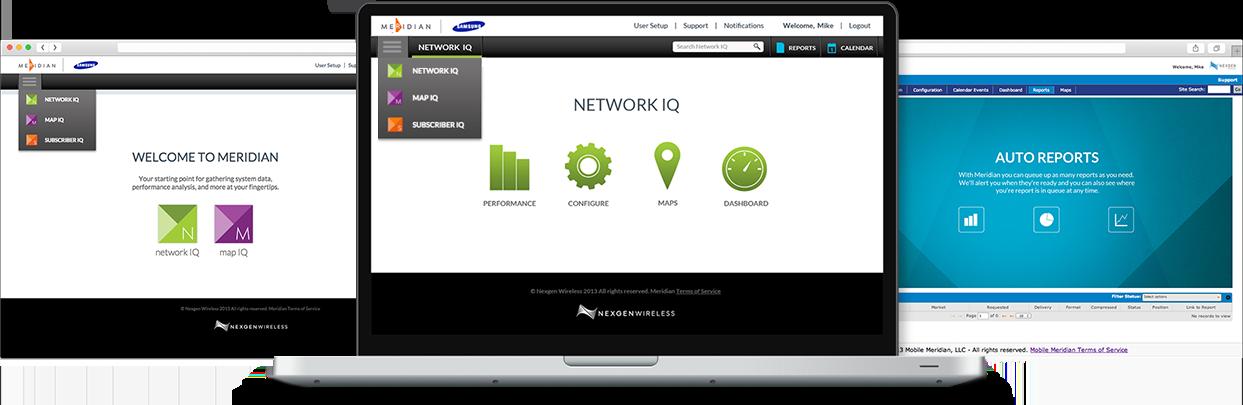 Branding and User Interface Design for the Nexgen Meridian Suite