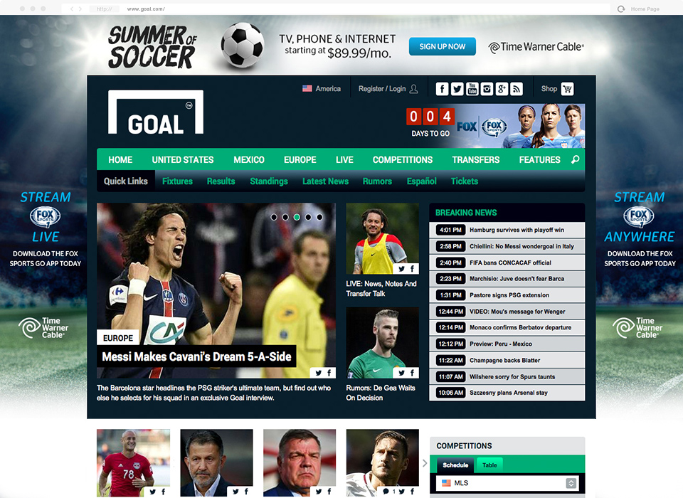 Summer of Soccer Web Skin.