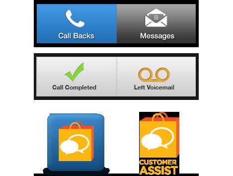 Customer Service App - UI Elements