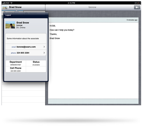 Customer Service App Screenshots - User Interface