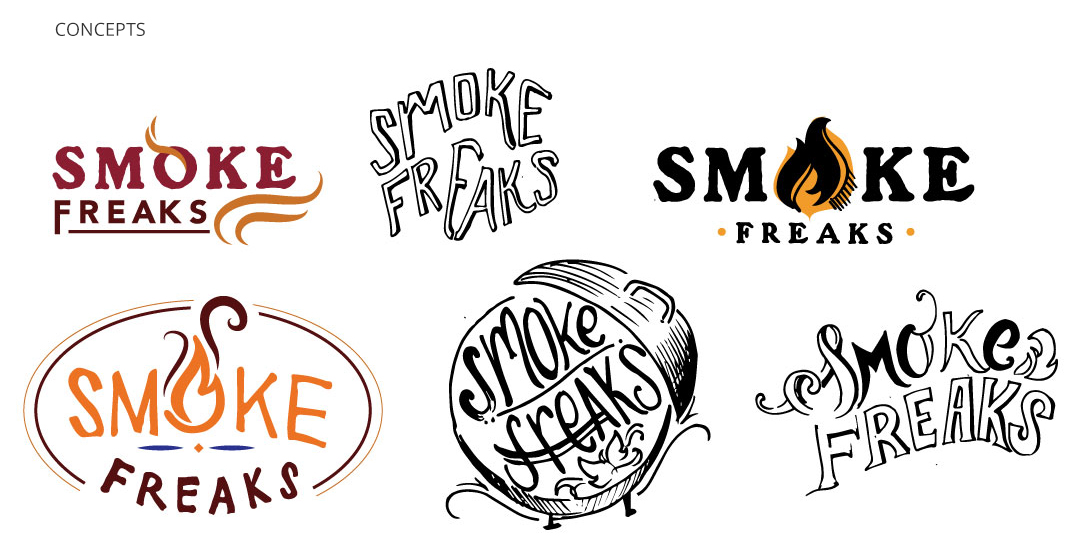 Smoke Freaks Logo Concepts