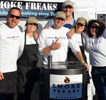 Smoke Freaks Logo on Employee T-Shirts