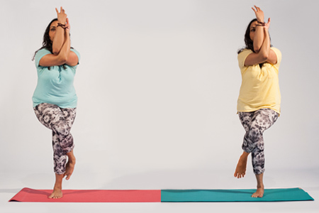 Digital Yoga pose: A/B Test