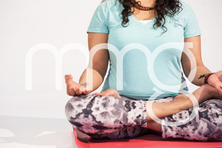 Digital Yoga pose: Stock Photo